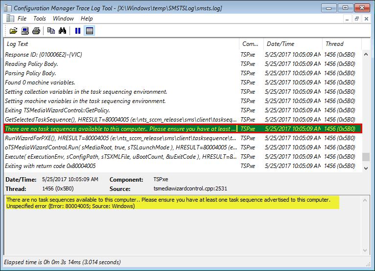 Erreur PXE lors d'un déploiement OS : PXE Boot aborted ou Error